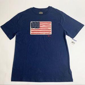Ralph Lauren Flag Graphic T-Shirt XL NWT